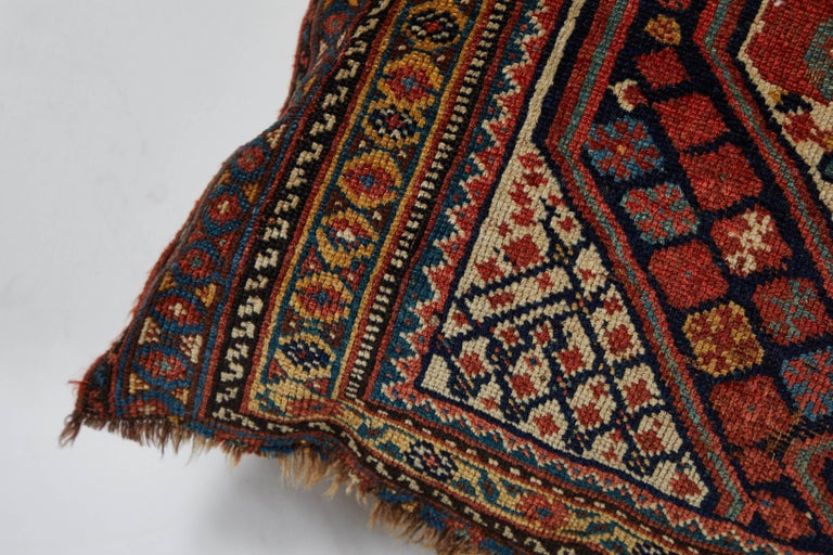 Persian Antique Qashqai Bag Face Pillow For Sale
