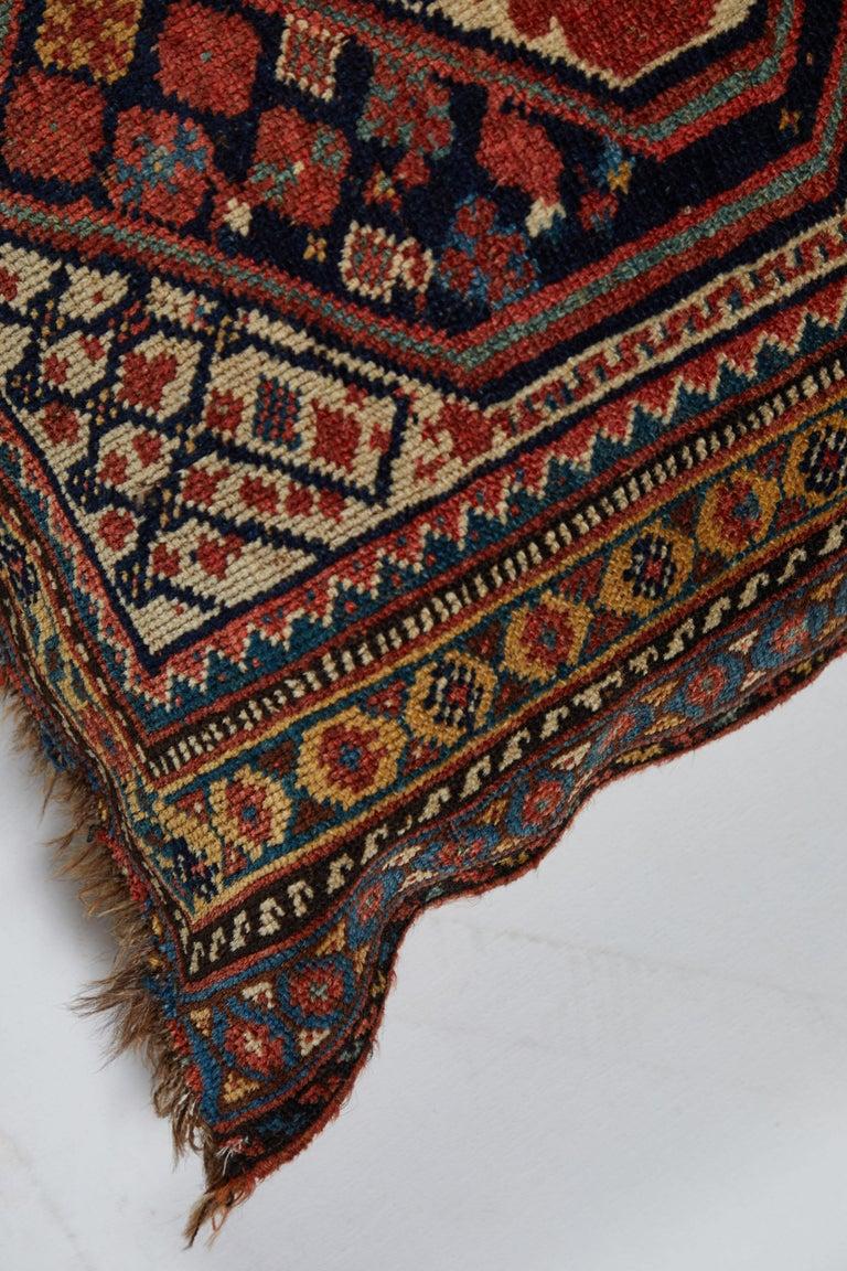 Hand-Woven Antique Qashqai Bag Face Pillow For Sale