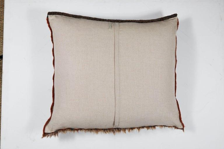 19th Century Antique Qashqai Bag Face Pillow For Sale