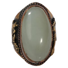 Antique Qing Dynasty Mutton Fat Ring