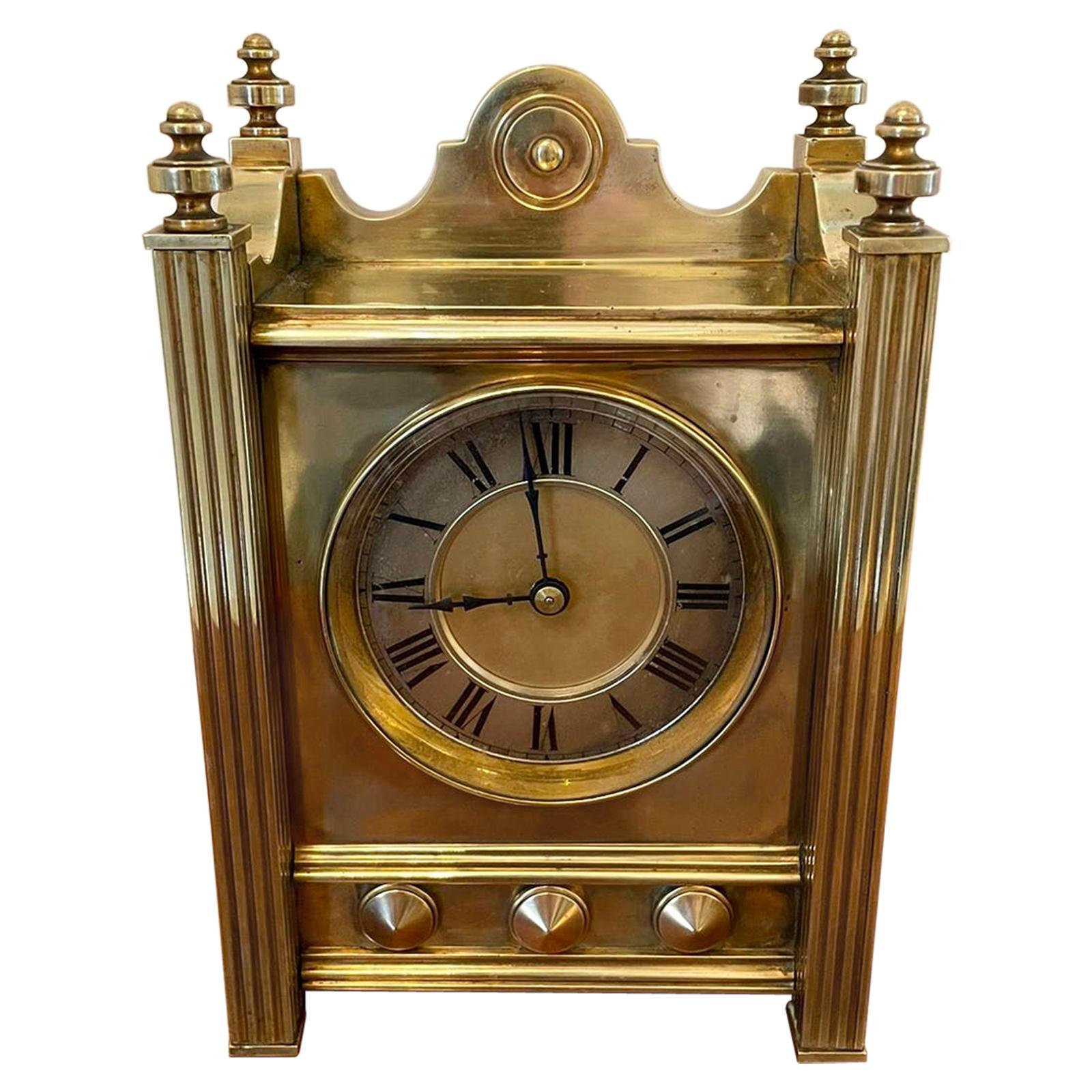 Antique Quality Eight Day Antique Brass Mantel Clock