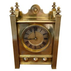 Antique Quality Eight Day Antique Brass Mantel Clock