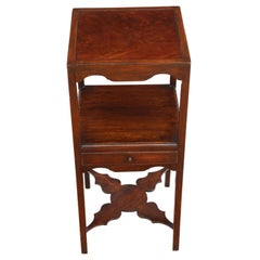Antique Quality Georgian circa 1810 Mahogany Bedside Table Washstand