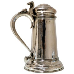 Antique Queen Anne Britannia Silver Flagon London 1711 Timothy Ley