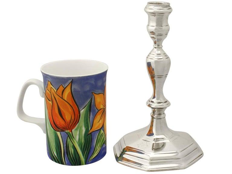 British Antique Queen Anne Britannia Standard Silver Candlesticks For Sale