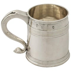 Antique Queen Anne Britannia Standard Silver Mug