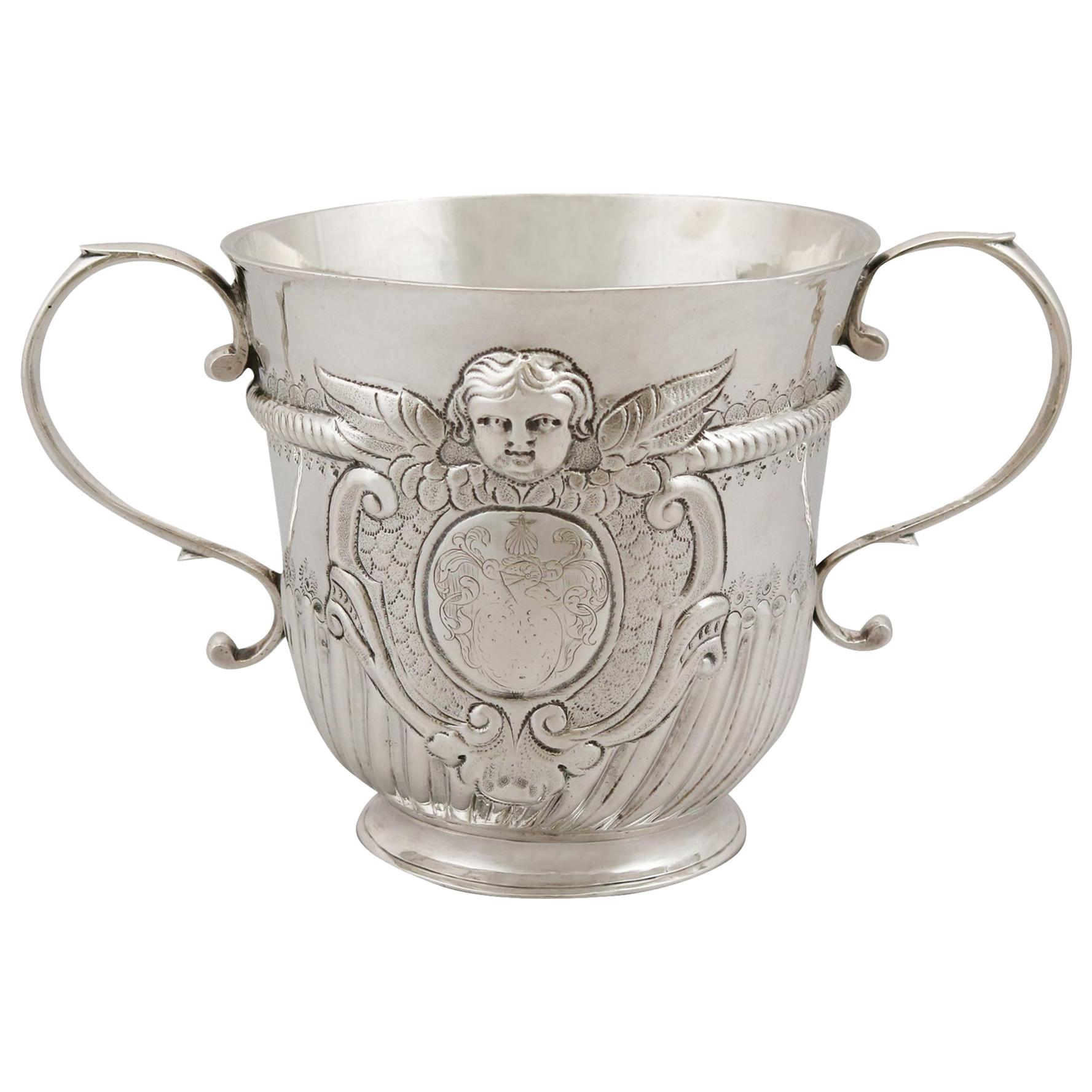 Antique Queen Anne Britannia Standard Silver Porringer