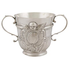Antique Queen Anne Britannia Standard Silver Porringer