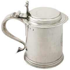 Antique Queen Anne Britannia Standard Silver Quart and a Half Tankard