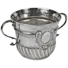 Antique Queen Anne Britannia Sterling Silver Porringer Cup England c1703 Estate