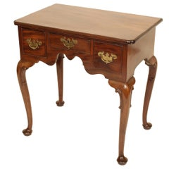 Antique Queen Anne Style Mahogany Lowboy