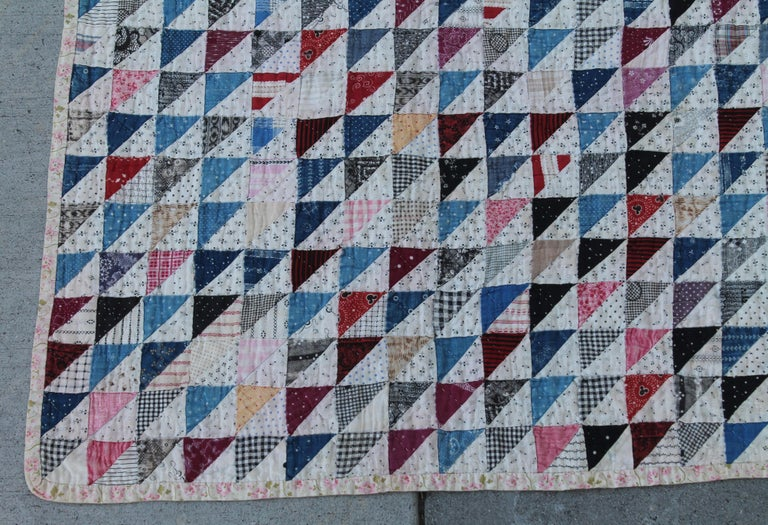 Country Antique Quilt 19th Century Mini Pieced Quilt, 5600 Pieces For Sale