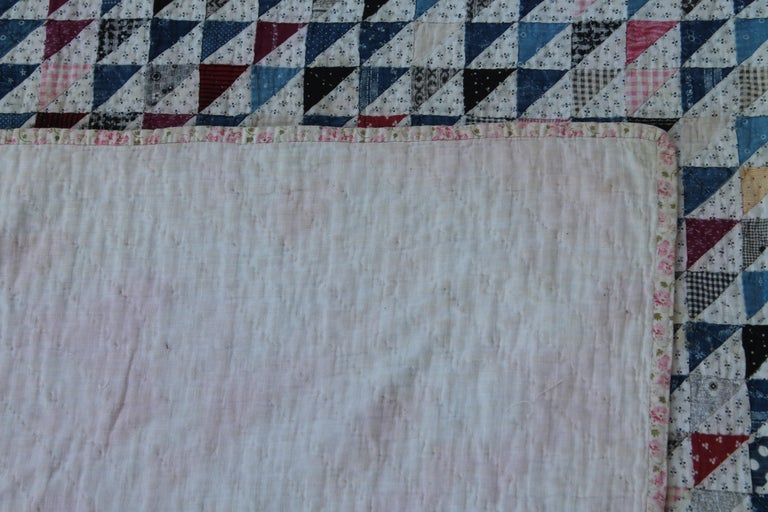 Antique Quilt 19th Century Mini Pieced Quilt, 5600 Pieces In Good Condition For Sale In Los Angeles, CA