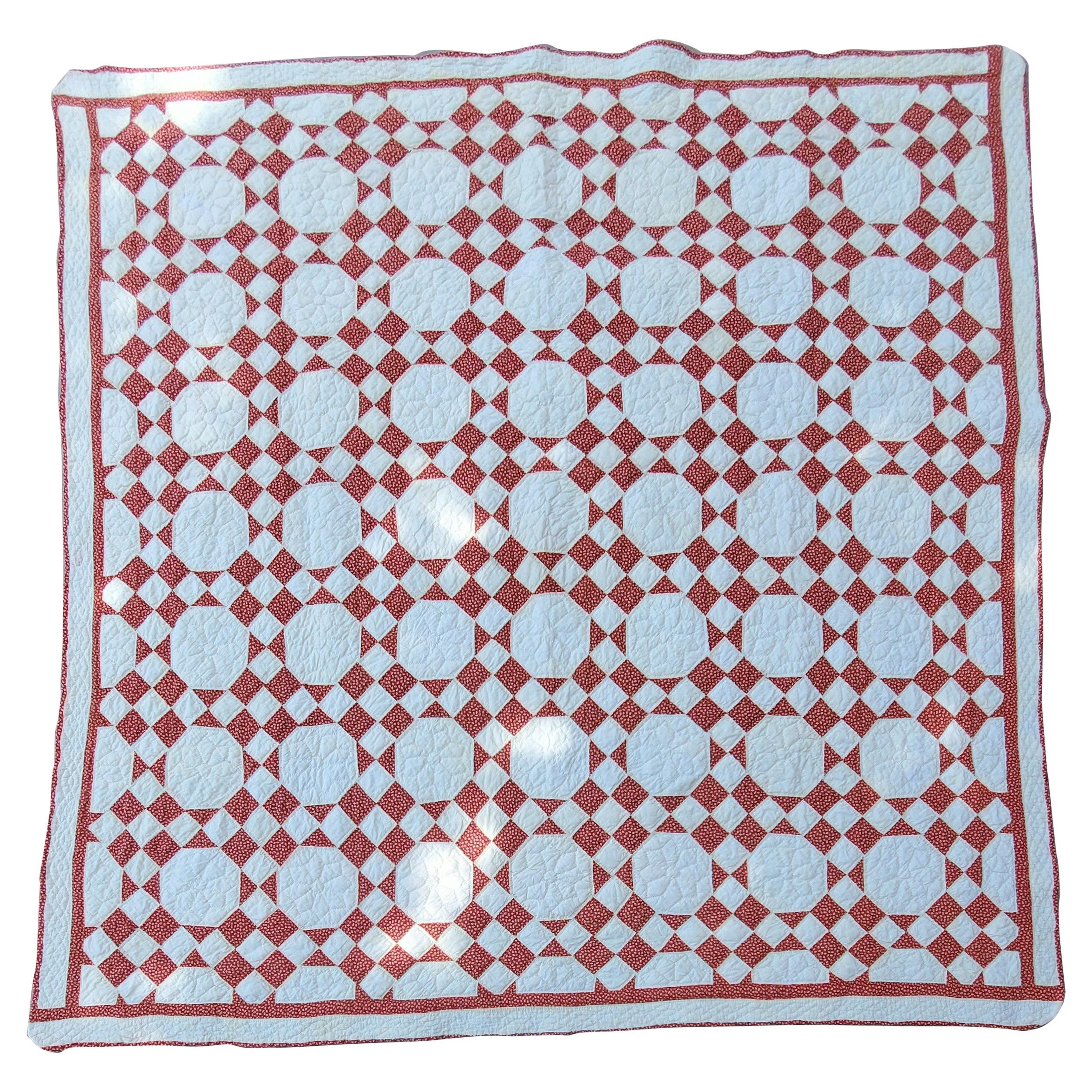 Antique Quilt, 19thc Nine Patch Variation