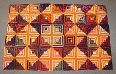 Antique Quilt 19Thc Velvet Log Cabin Quilt
