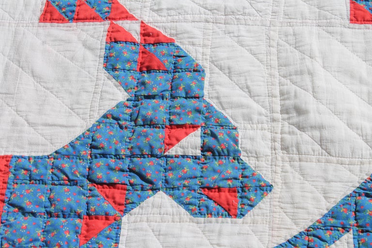 American Antique Quilt - Early 20th Century Donkey Quilt For Sale