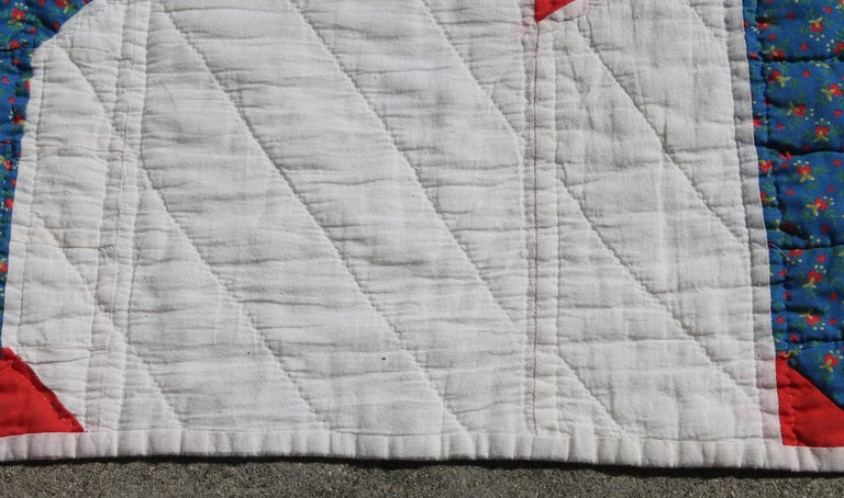 Hand-Crafted Antique Quilt - Early 20th Century Donkey Quilt For Sale