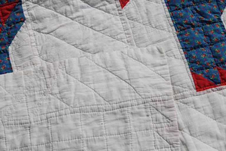 Antique Quilt - Early 20th Century Donkey Quilt In Good Condition For Sale In Los Angeles, CA