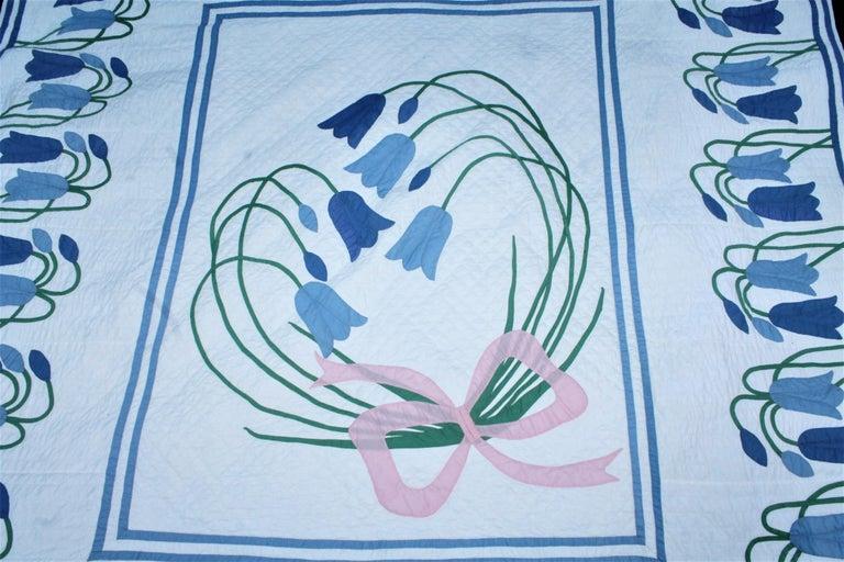 American Antique Quilt, Applique Quilt, ll For Sale