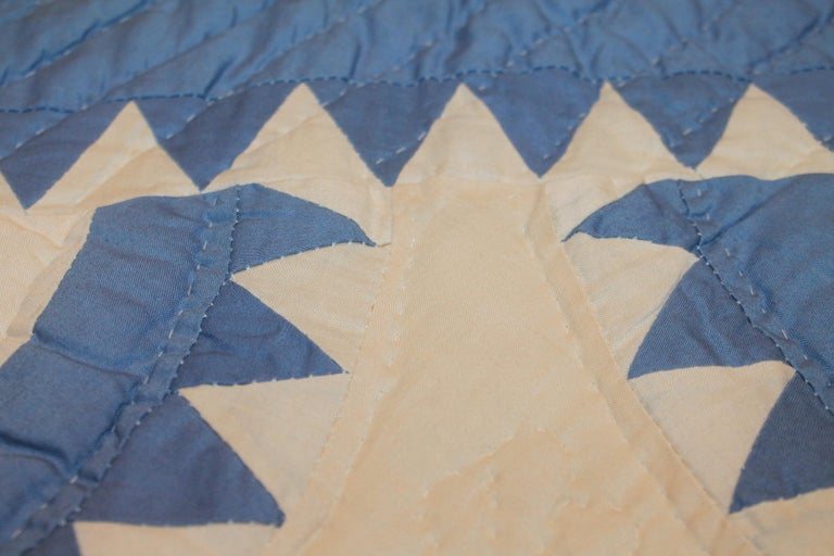 Antique Quilt New York Beauty In Good Condition In Los Angeles, CA