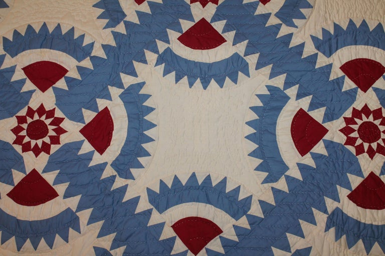 20th Century Antique Quilt New York Beauty