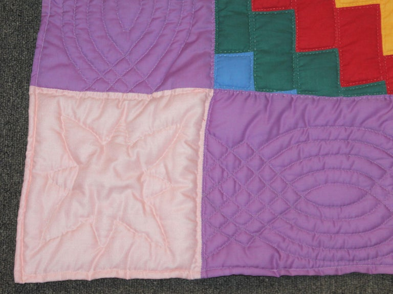 Hand-Crafted Antique Quilt Philadelphia Payment from Lancaster Co., Pennsylvania For Sale