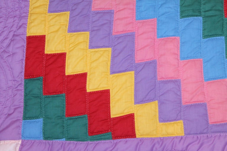 Antique Quilt Philadelphia Payment from Lancaster Co., Pennsylvania In Good Condition For Sale In Los Angeles, CA