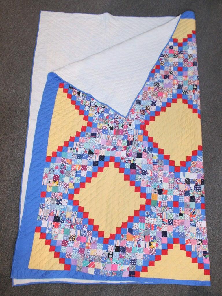 Adirondack Antique Quilt Postage Chain For Sale