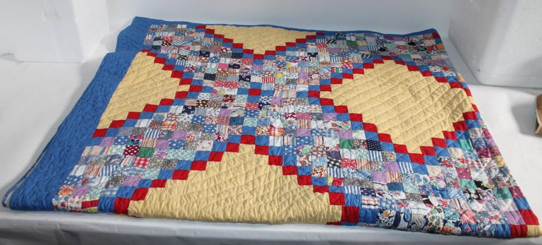 Hand-Crafted Antique Quilt Postage Chain For Sale
