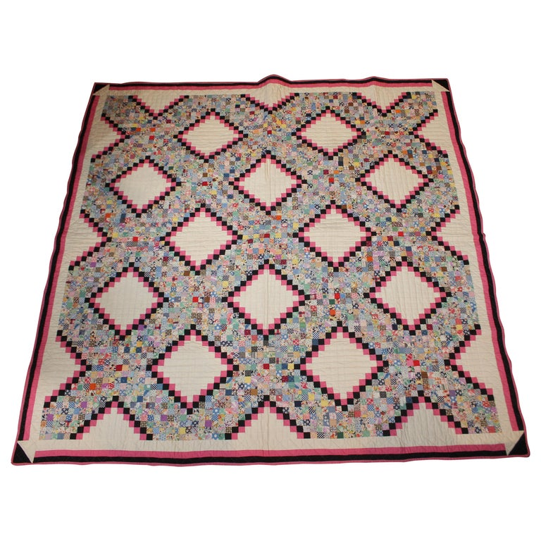 Antique Quilt Postage Stamp Chain For Sale