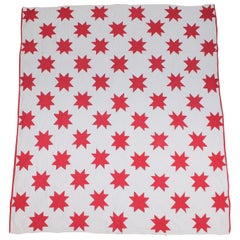 Antique Quilt, Red and White Stars Quilt
