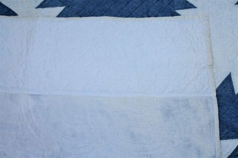 20th Century Antique Quilt-Saw Tooth Diamond in a Square Quilt For Sale