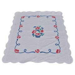 Antique Quilt Summer Floral Applique