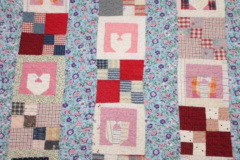 Adirondack Antique Quilt with the Letter
