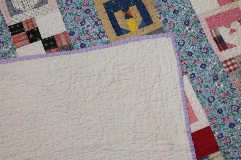 Antique Quilt with the Letter