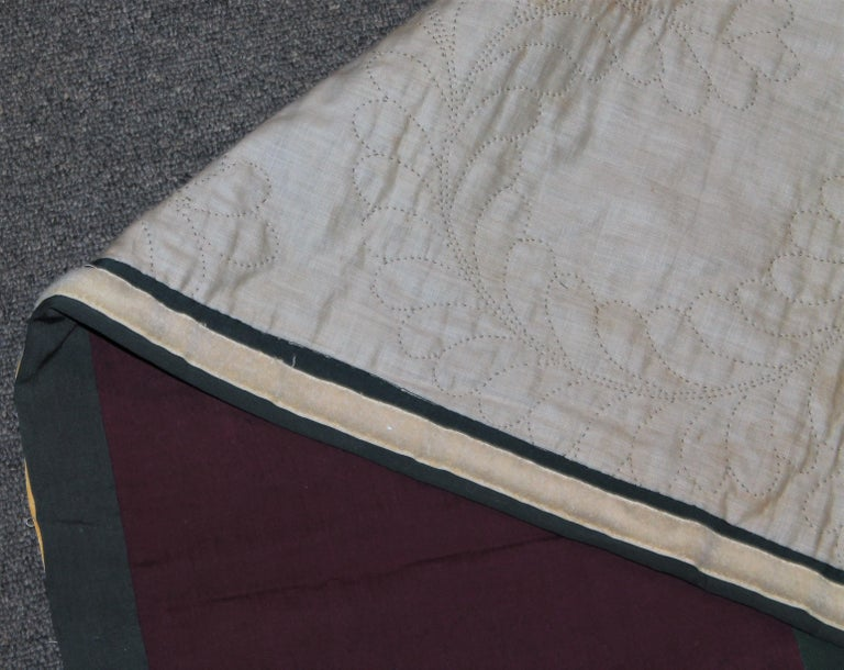 Antique Quilt Wool Lancaster Co., Pa Amish Diamond in a Square 2