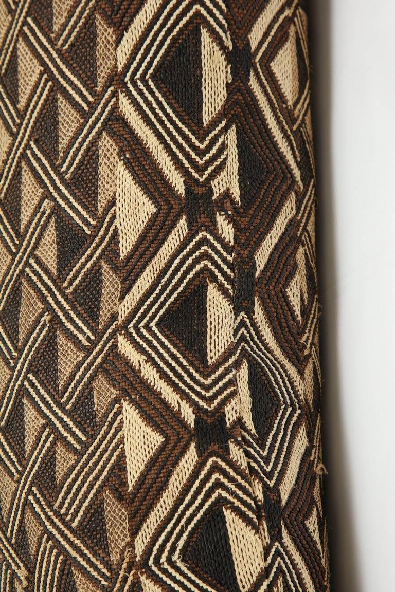 19th Century Antique Raffia Kuba Cloth Pillow For Sale