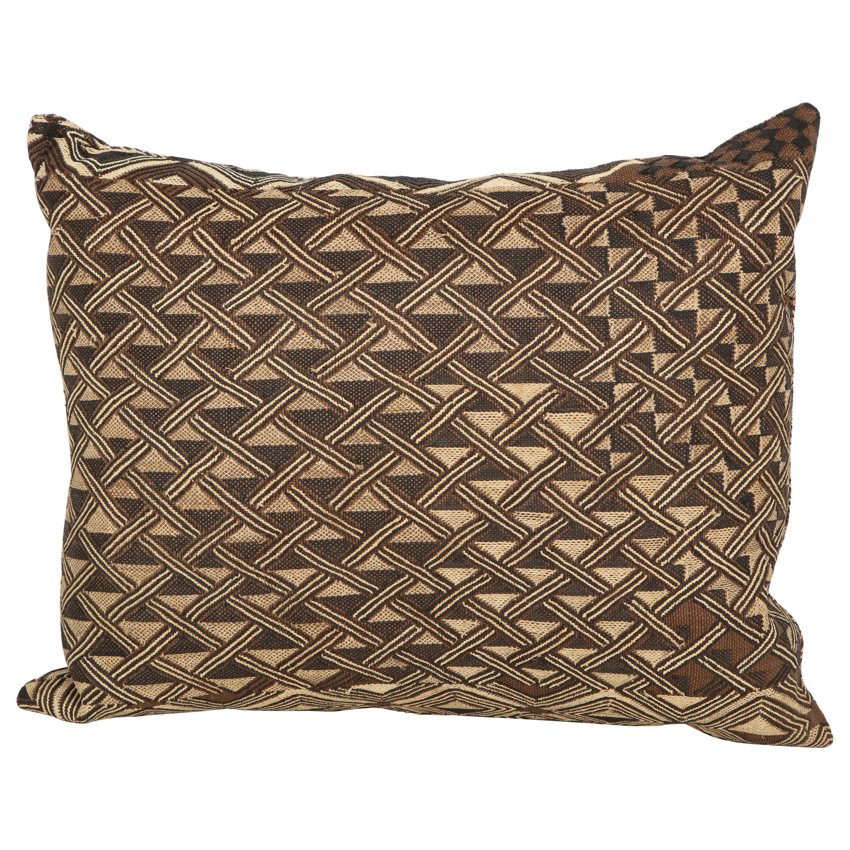 Antique Raffia Kuba Cloth Pillow