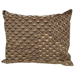 Antique Raffia Kuba Cloth Pillow