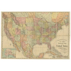 Antique Railroad Map of the United States by Rand, McNally & Co, 1900