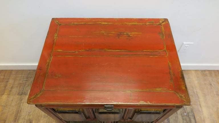 Qing Antique Raised Panel Chest with Drawers For Sale