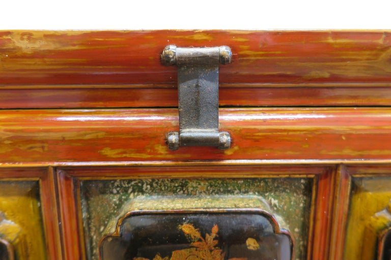Early 20th Century Antique Raised Panel Chest with Drawers For Sale