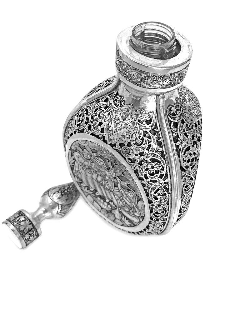 Vintage 3D Wine Jar, Handmade Silver For Sale 2