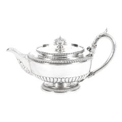 Antique Rare Georgian Sterling Silver Teapot by Paul Storr, 1810, 19th Century
