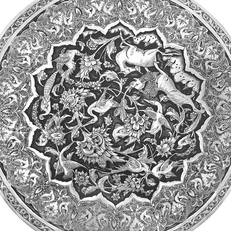 This extremely unique piece of art , is a beautiful hand made 0.84 karat silver. The box was made in 1940s in Iran. The famous designer PARVARESH made extremely delicate hand carved all around the box with flowers and birds. In the middle on top has