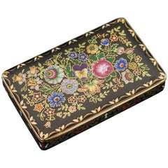 Antique Rare Swiss 18-Karat Gold and Enamel Snuff Box, Bautte & Moynier