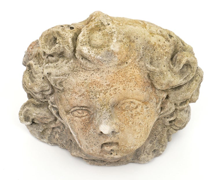 Antique Reconstituted Stone Sculpture In Good Condition For Sale In Austin, TX