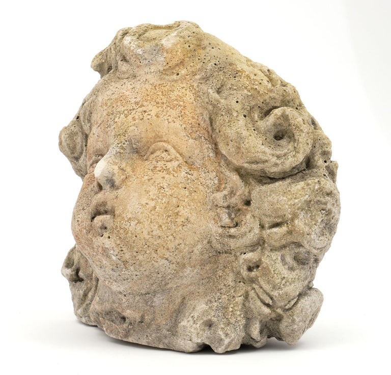 Antique Reconstituted Stone Sculpture For Sale 4