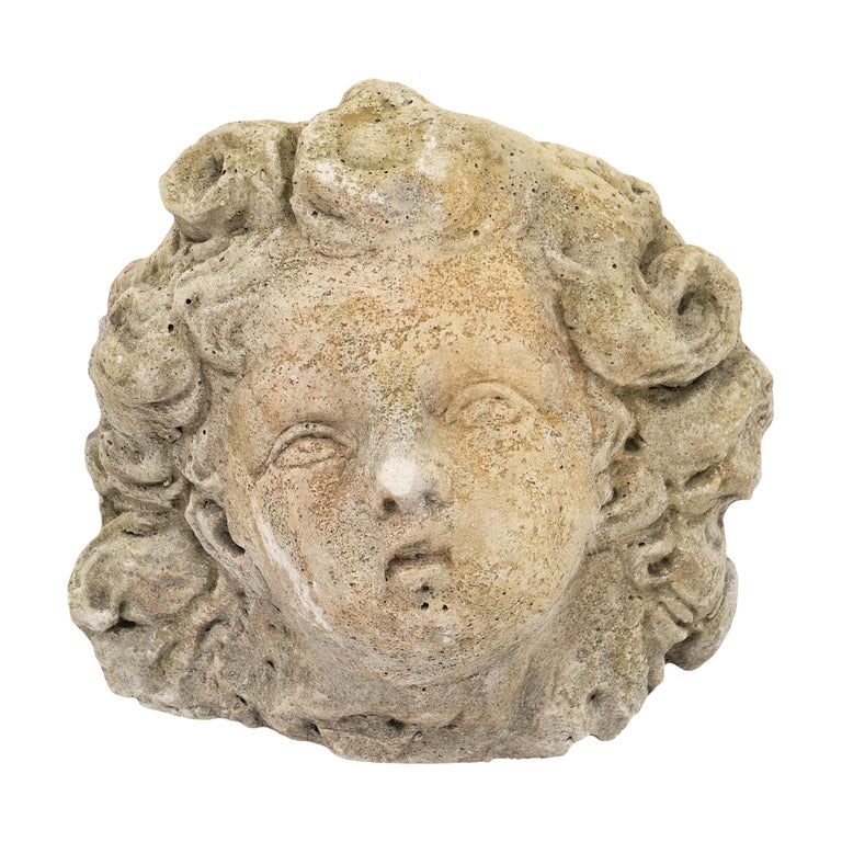 Antique Reconstituted Stone Sculpture For Sale