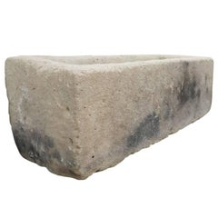 Antique Rectangular Limestone Trough